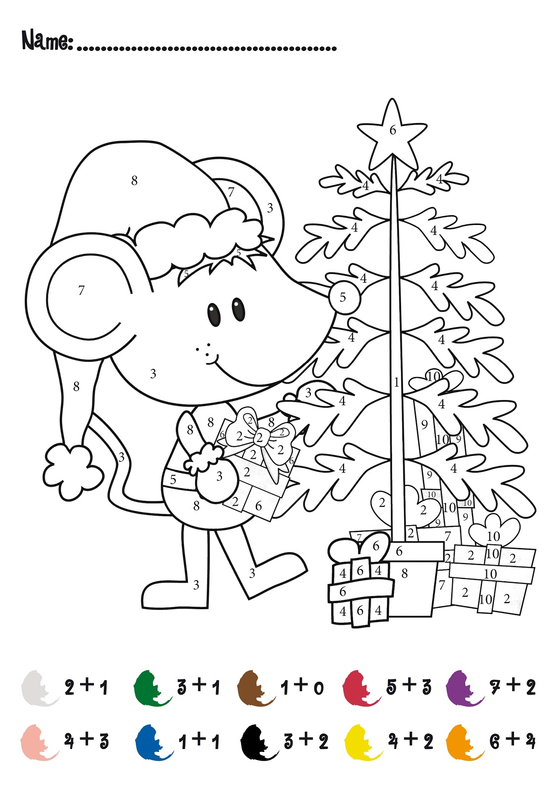 Christmas Math Worksheets – Santa Math Worksheets