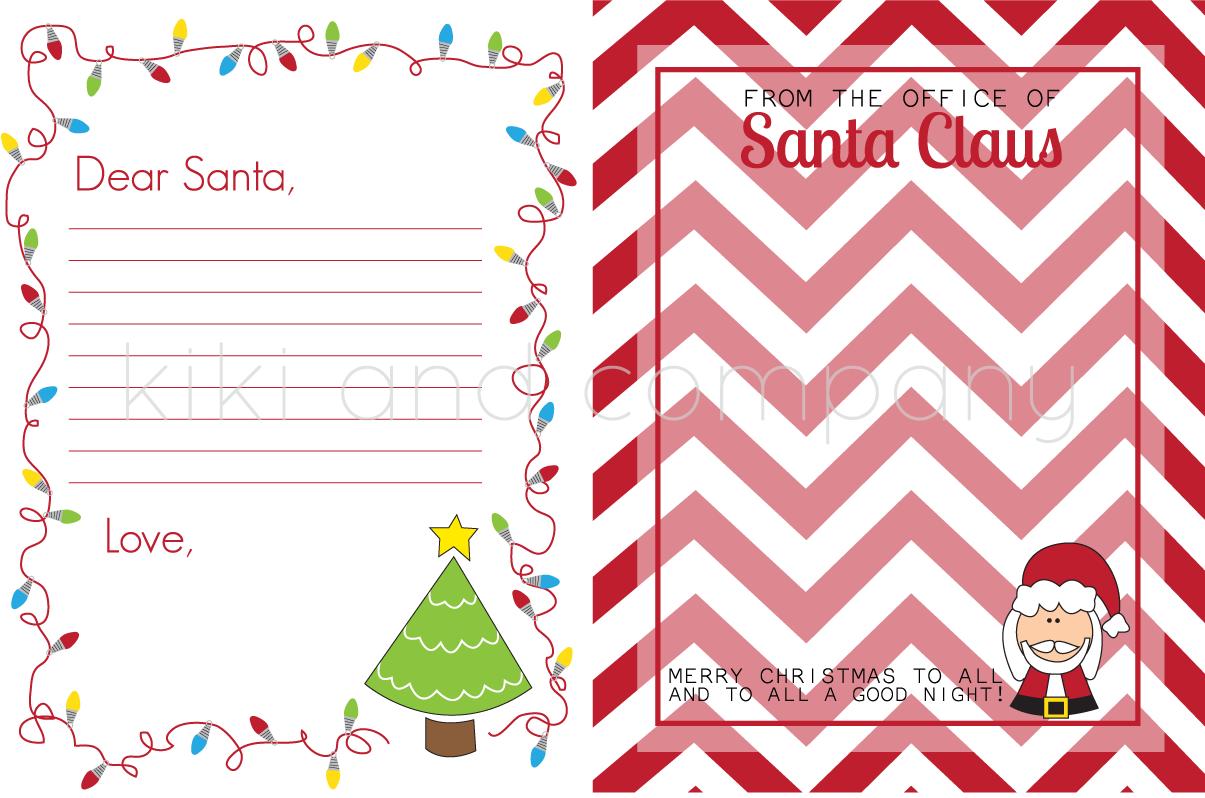 Christmas Stationary Free Printable Santa