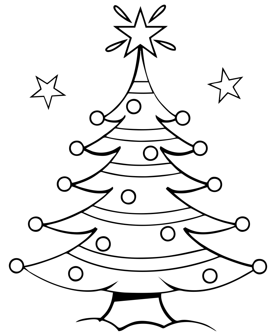 4 Images of Free Printable Coloring Pages Christmas Tree