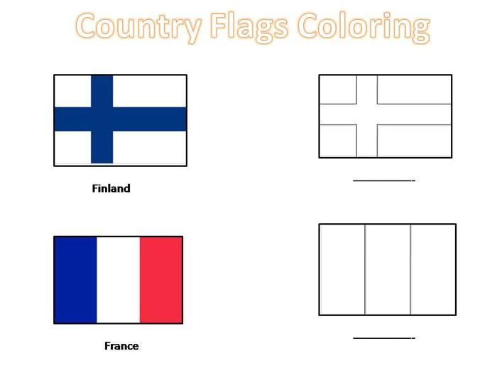 5 Images of Printable Country Flags To Color