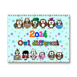Cute Owl Calendar 2014 Printable