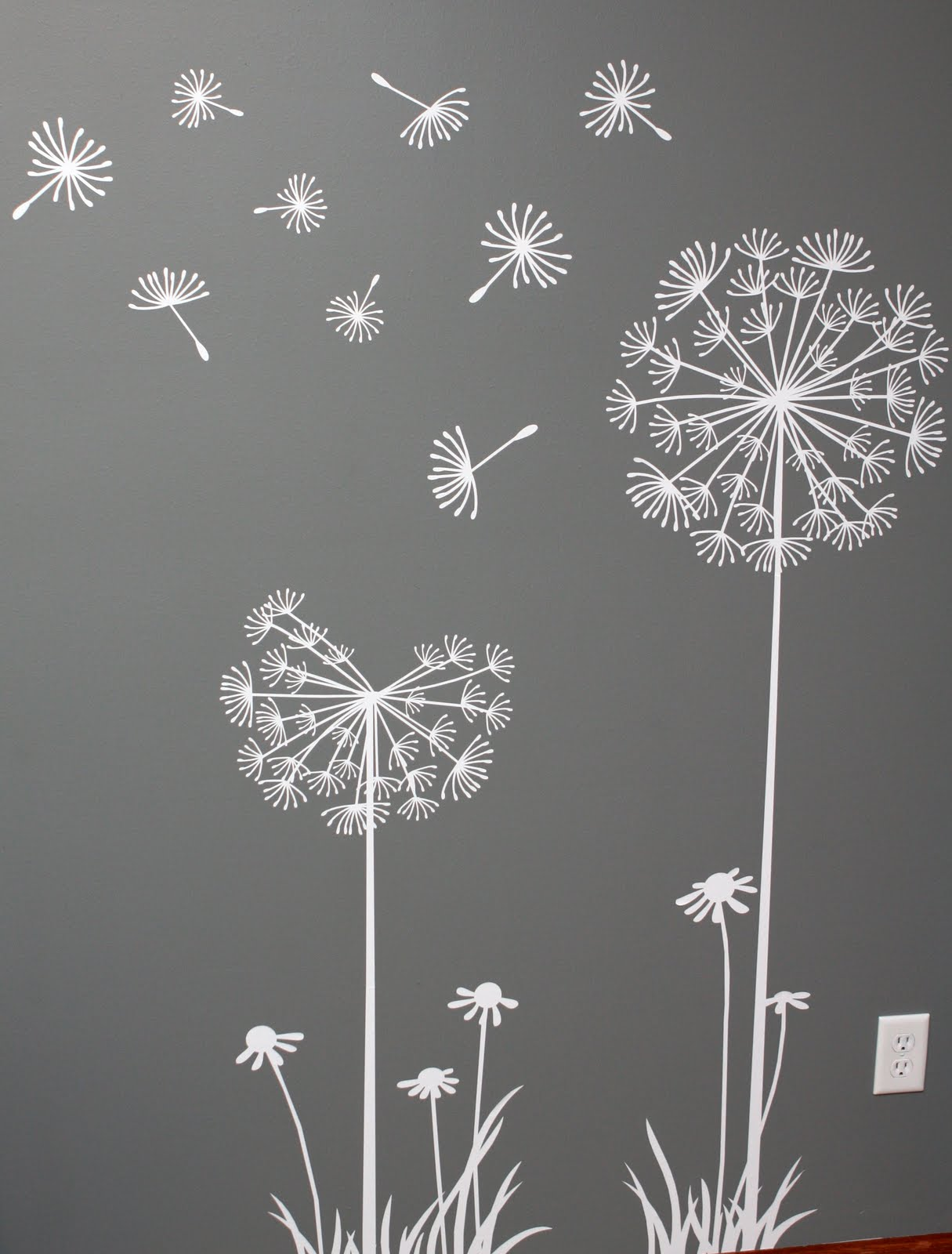 Stencils For Wall Decor : Best images of printable large dandelion stencil