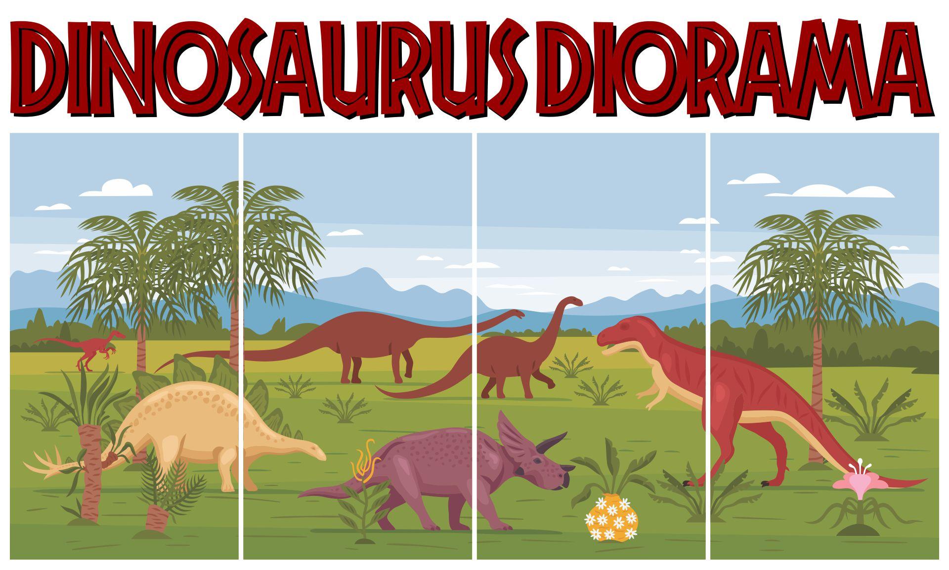 Dinosaur Diorama Backdrops Printable