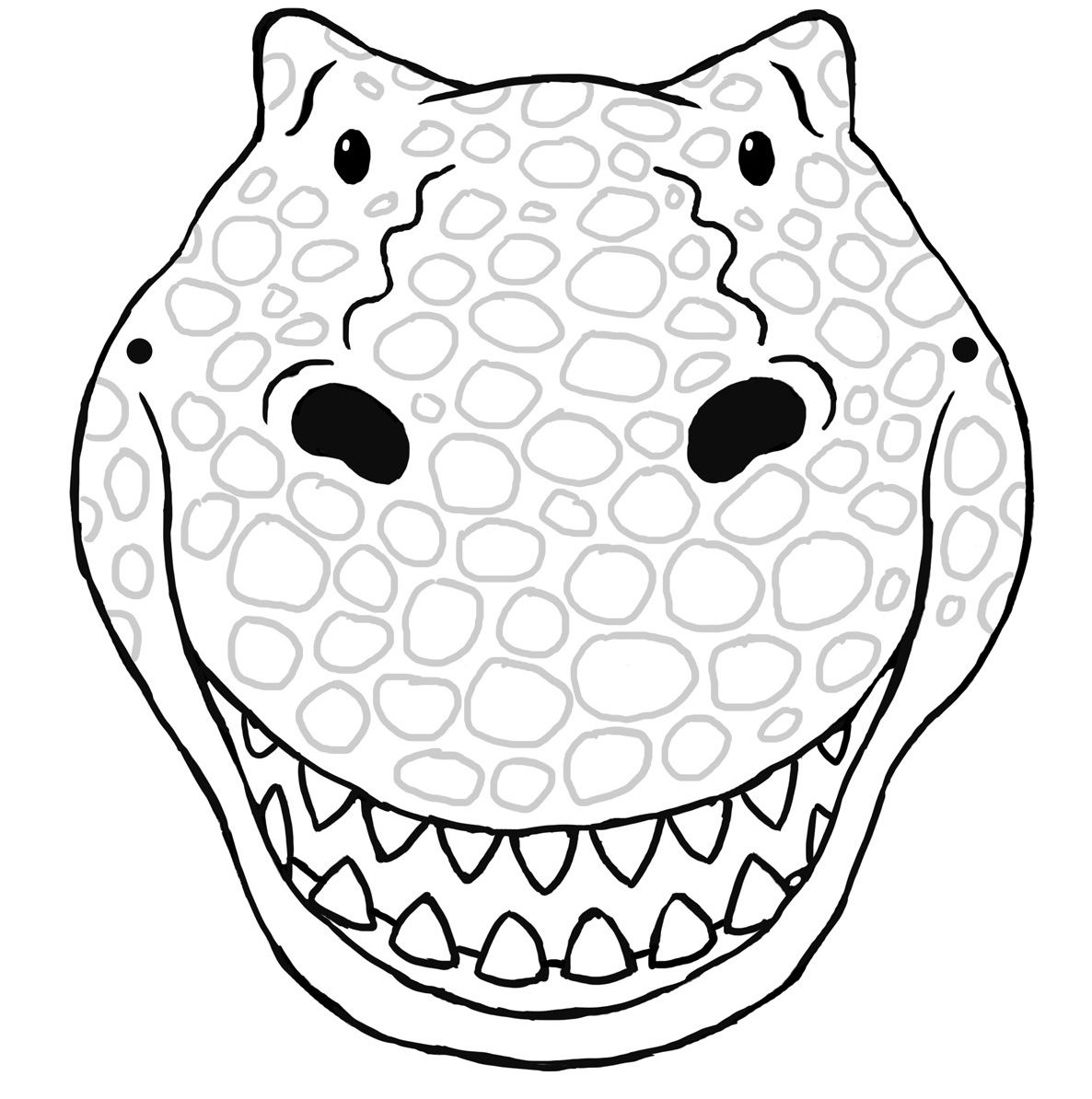 4 Images of Printable Dinosaur Masks