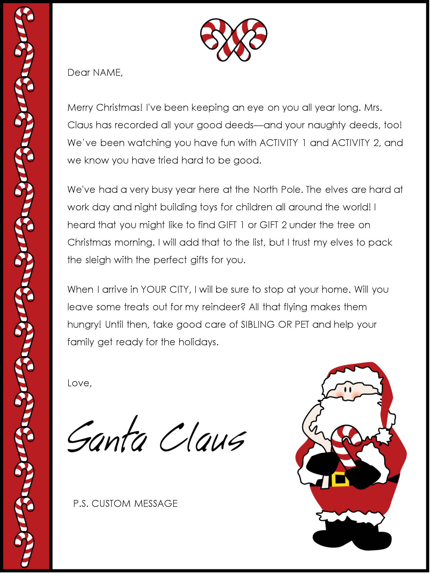 santa letter template word informatin for letter editable letter from santa template word letter