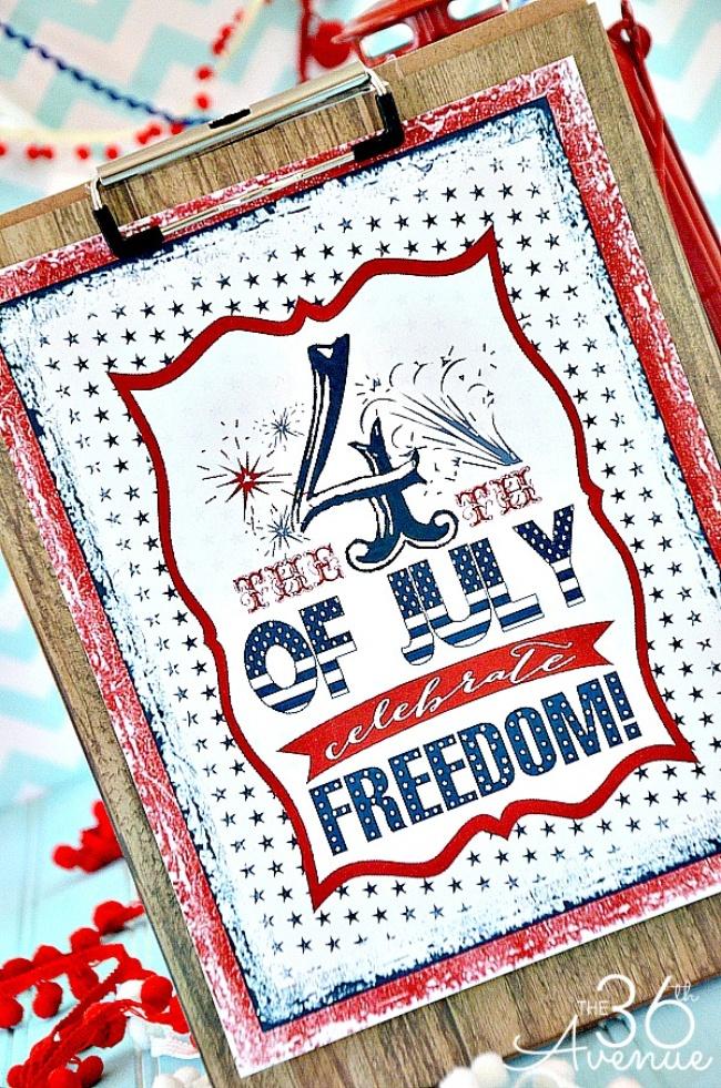 8 Images of Vintage Fourth Of July Printables