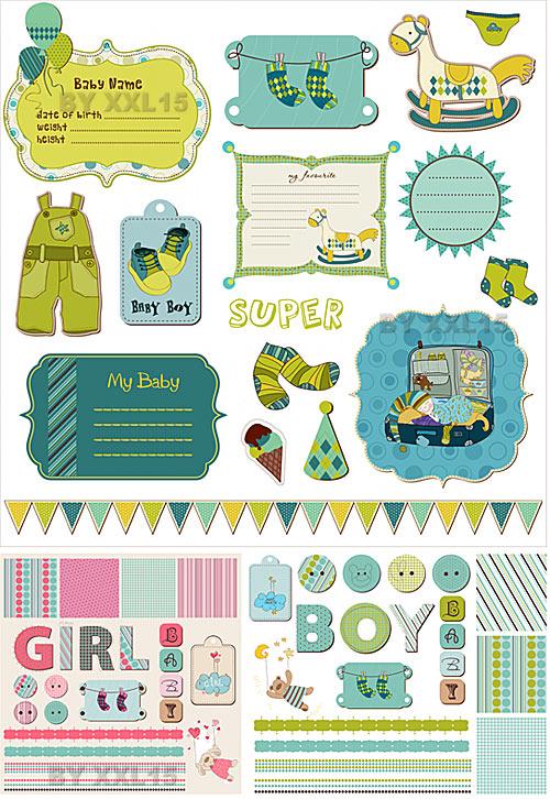Free Baby Scrapbook Printables