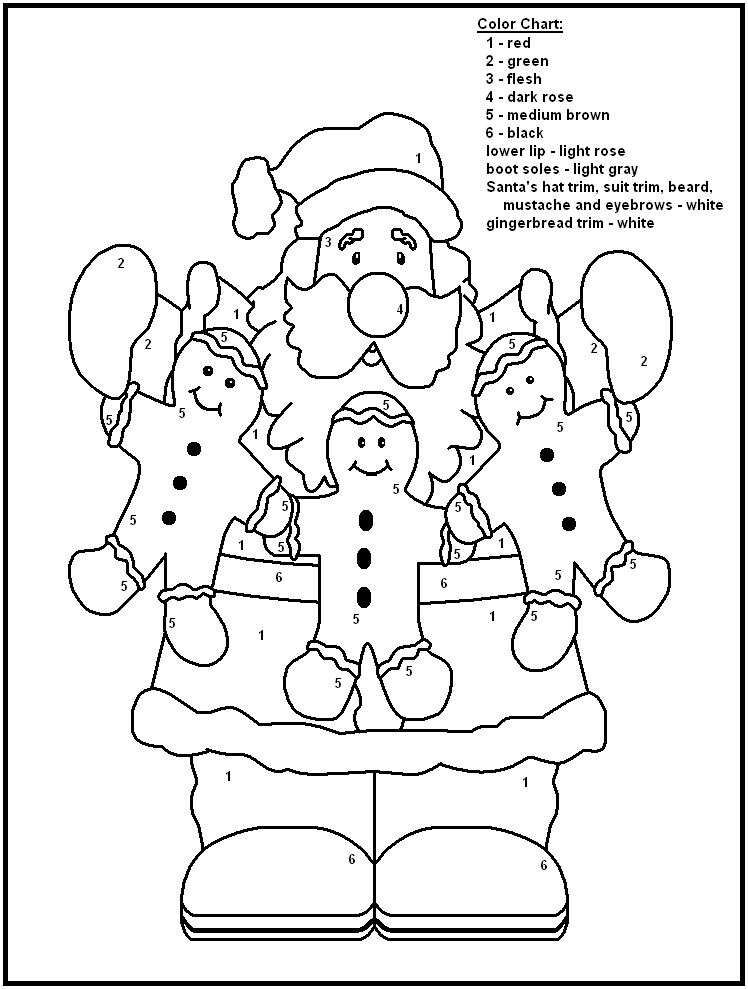 Colouring By Number Christmas : Best images of christmas printable color by number pages