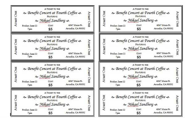 7 best images of avery printable event tickets