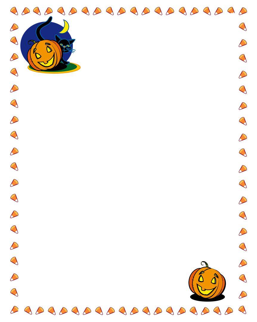 6 Images of Printable Halloween Pumpkin Border