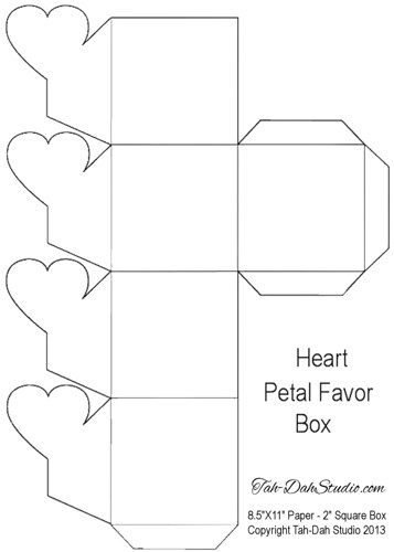 7 best images of free printable heart gift box templates for Free box templates