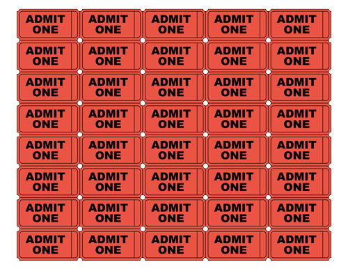 5 Images of Free Printable Sheet Of Tickets