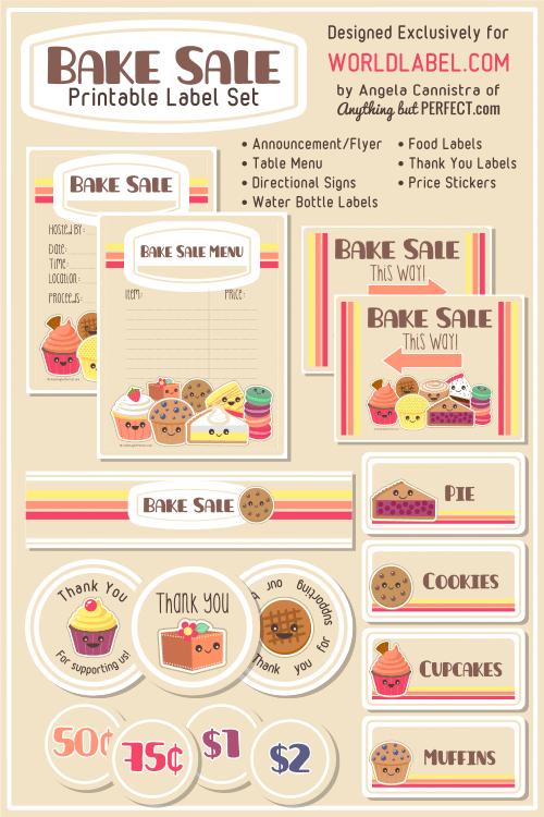 10 Images of Bake Sale Printable Tags