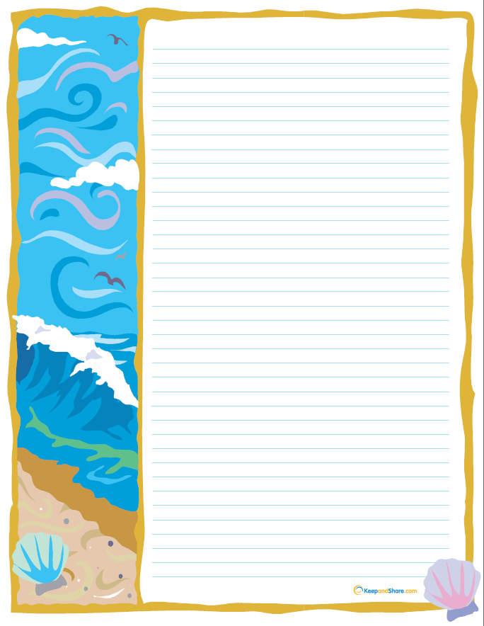 Free Printable Beach Stationary
