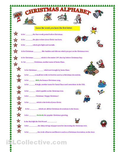 Free Worksheets » Fun Holiday Worksheets - Free Printable ...