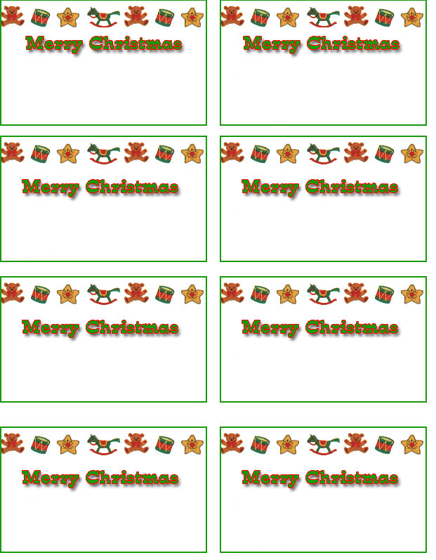 8 Images of Printable 8160 Christmas Name Tags