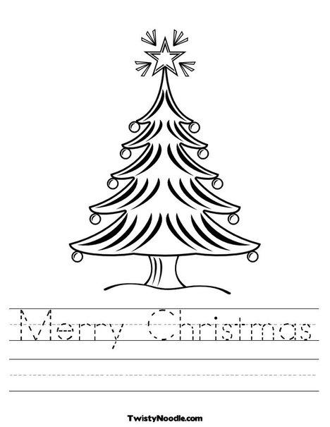 Printable Christmas Worksheets Preschool