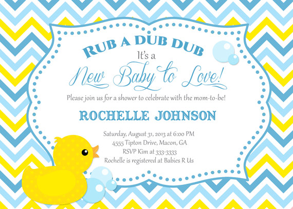 7 Images of Free Printable Invitations Duck Baby Shower