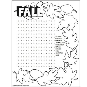 5 Images of Free Printable Fall Puzzles