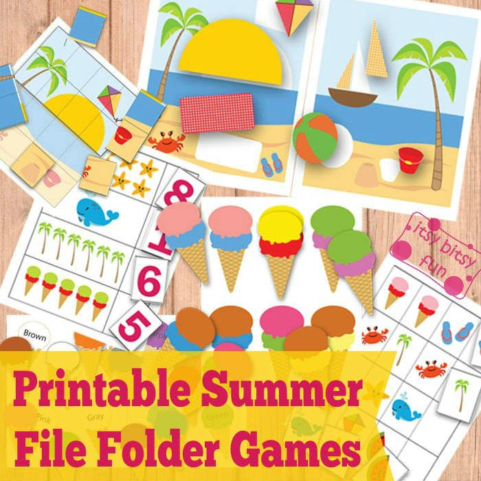 5 Images of Fall Free Printable File Folder Games