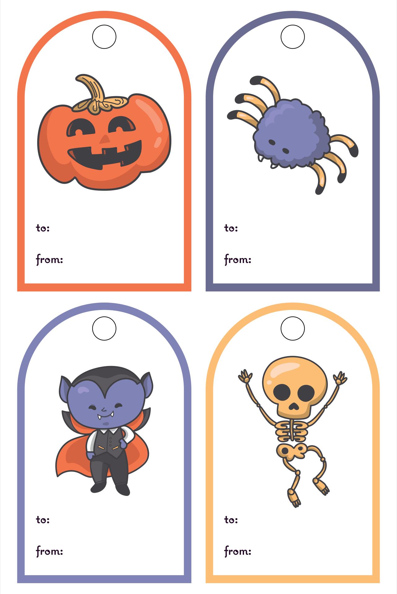 Printable Halloween Gift Tag Template