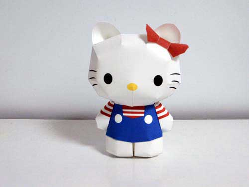 5 Images of Hello Kitty Printable Paper Crafts