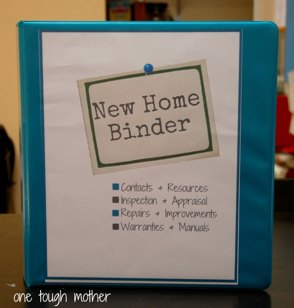 8 Images of New Home Binder Printables