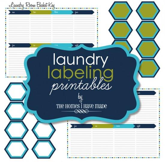 5 Images of Laundry Basket Labels Printables