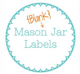 6 Images of Printable Mason Jar Label Template