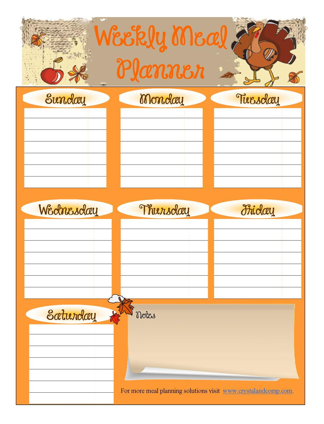 7 Best Images of Free Printable Menu Planning Sheets ...