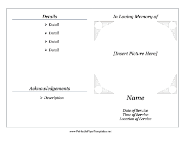 8 Images of Printable Memorial Service Templates
