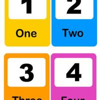 7 Images of Printable Number Cards 4