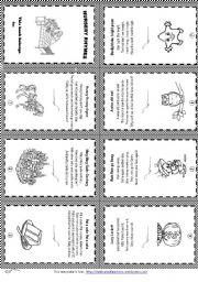 Free Printable Nursery Rhyme Worksheets