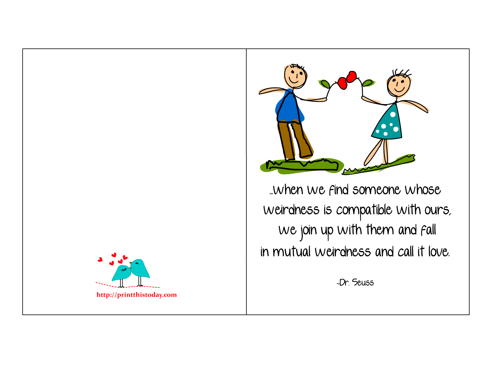 5 Images of Printable Romantic Cards For Him