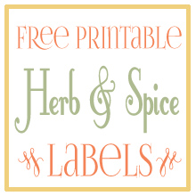 Free Printable Spice Labels Designs