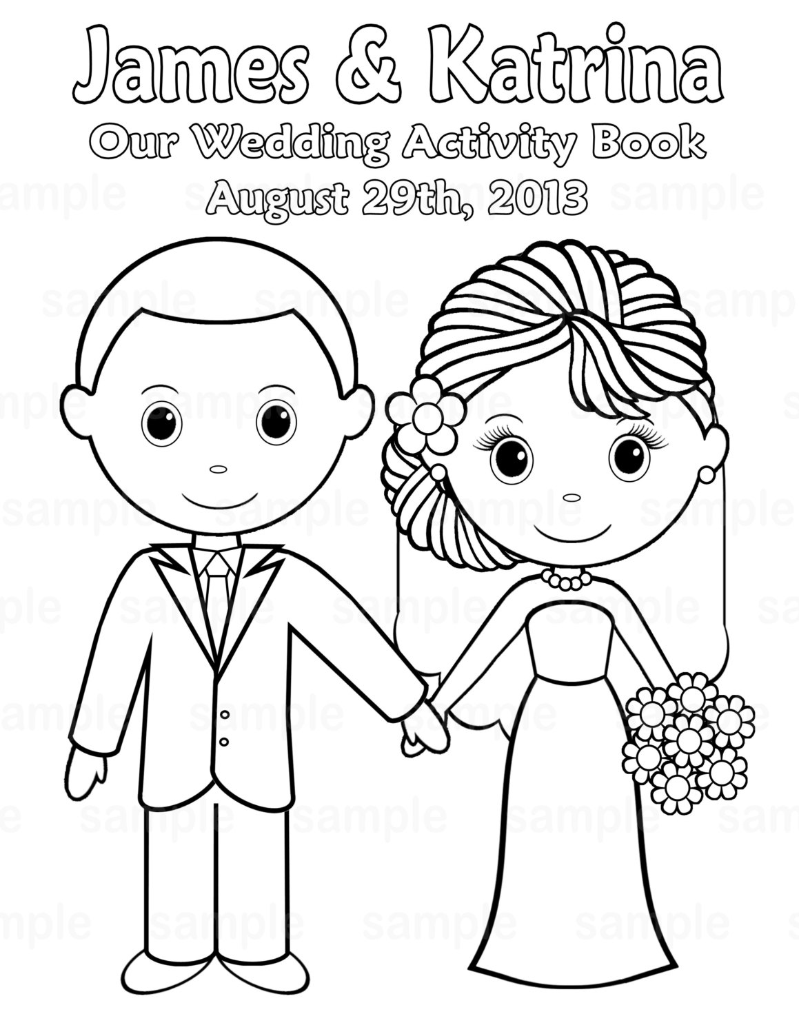 4 Images of Printable Wedding Coloring Book