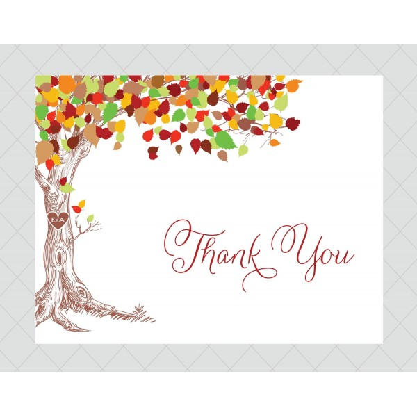 7 Images of Tree Thank You Cards Printable
