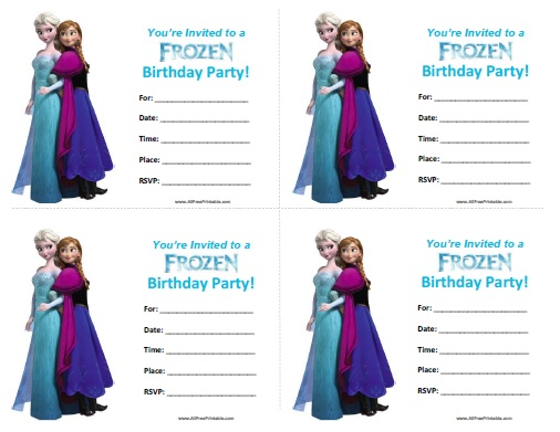 8 Images of Free Frozen Printable Birthday Invitations