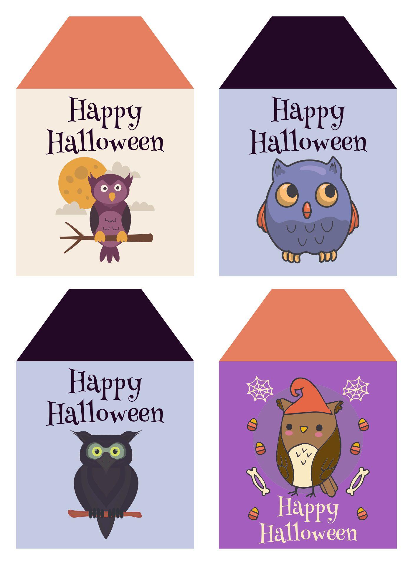 Halloween Gift Tags Printable Owls