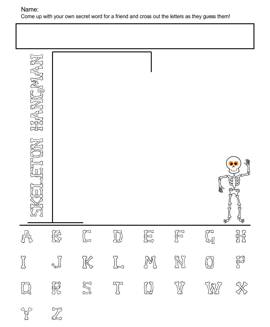 Halloween Hangman Words