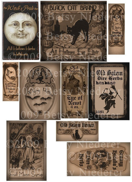 9 Images of Witch Bottle Labels Printable