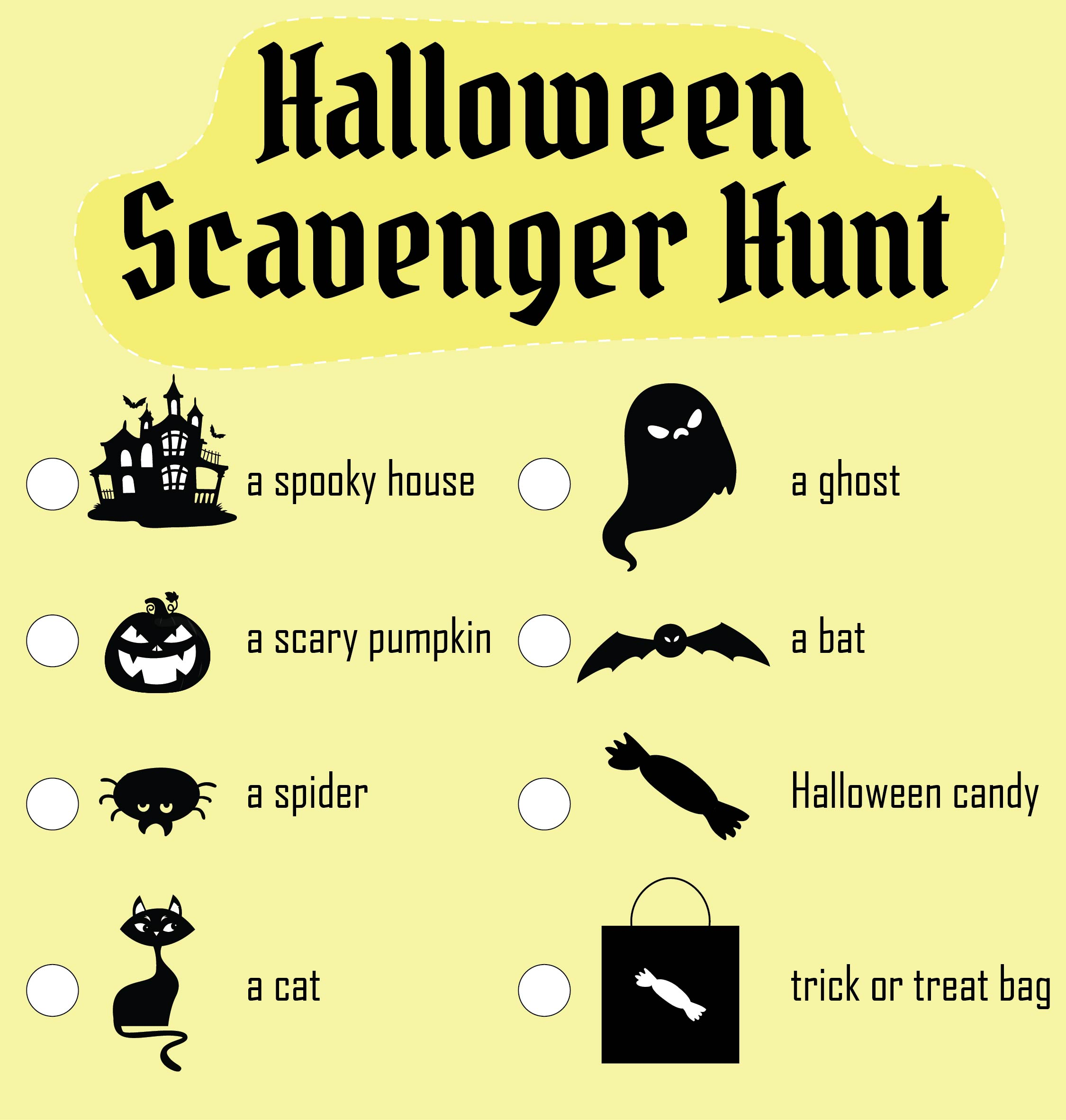 5 Images of Printable Halloween Party Games Ideas