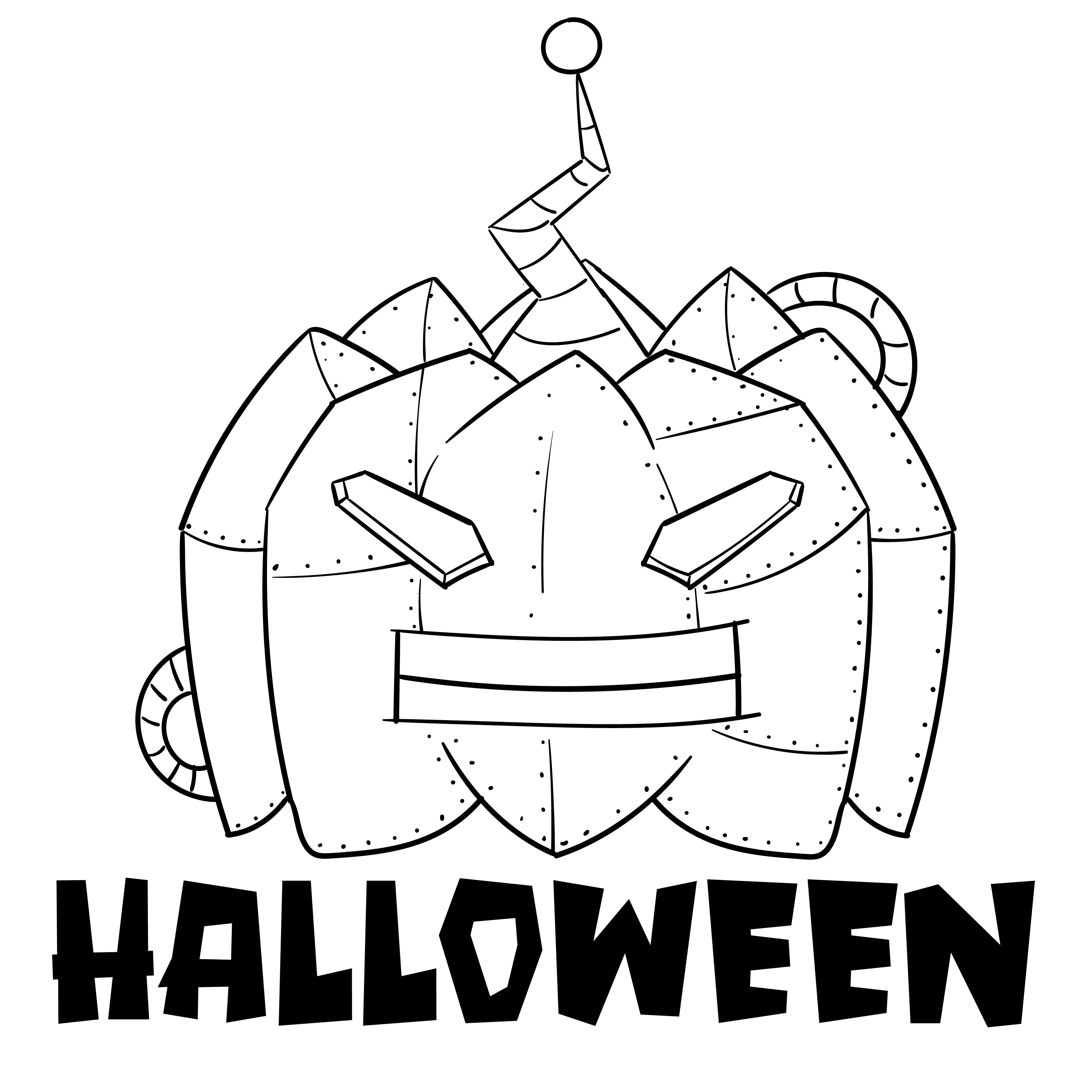 5 Images of Happy Halloween Pumpkin Stencils Printable