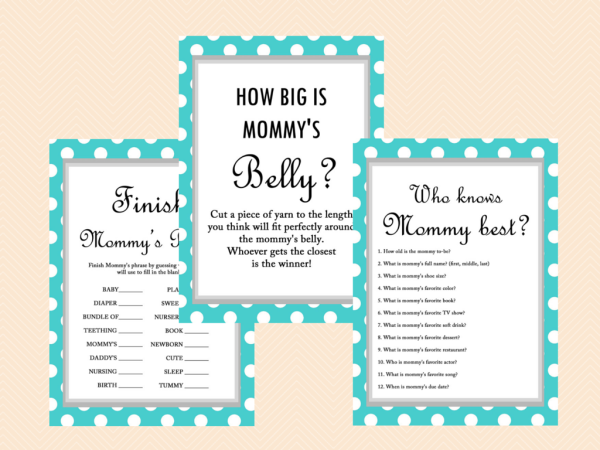 best mom printable baby shower game who knows who knows mommy baby