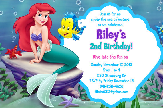 Mermaid Birthday Party Invitations for awesome invitation layout