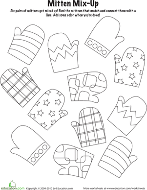 Mitten Worksheet Printables