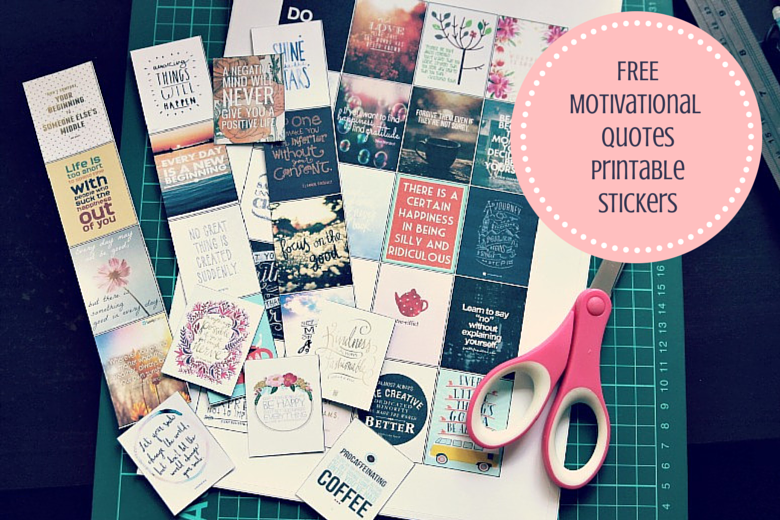 Motivational Quotes Free Printable Planner Stickers