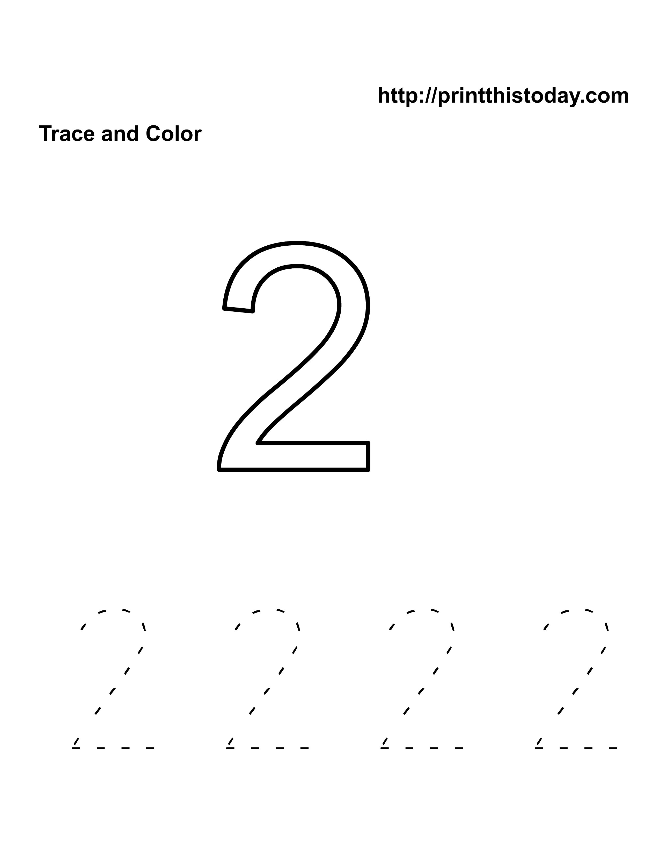 Free Printable Number Tracing Worksheets For Preschoolers – Kindergarten Number Tracing Worksheets