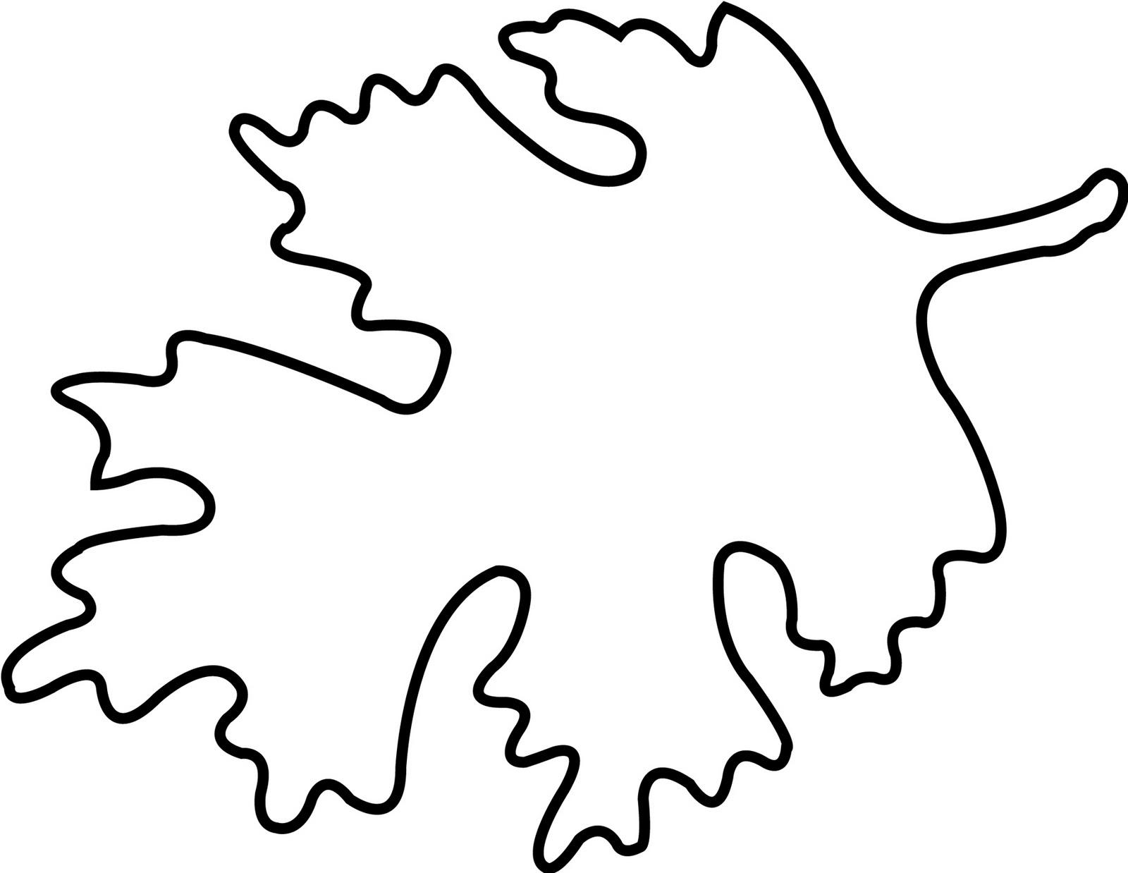 5 Images of Oak Leaf Outline Printable