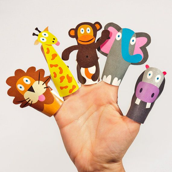 5 Images of Printable Animal Finger Puppets